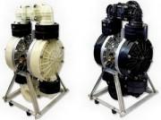 Pompe pneumatique à membranes en inox - Débit jusqu'à 48 m3/h