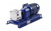 Pompes volumètriques à engrenages série GX - Inox, garniture mécanique ou presse étoupe