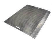 Pont de chargement en tôle aluminium - Capacité de charge : 1200 kg
