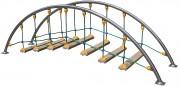 Pont oscillant araignée - Norme EN 1176 / de 3 à 12 ans