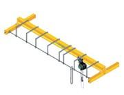 Pont roulant monopoutre manuel - Posé ou suspendu - Capacité : de 250 à 10 000 Kg