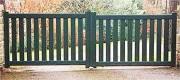 Portail aluminium barreaux 90 x 25 mm