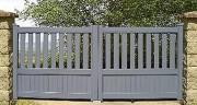 Portail aluminium battant droit semi ajouré