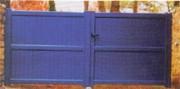 Portail bleu en aluminium - Portail DIWAN