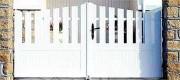 Portail PVC blanc semi ajouré