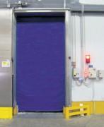 Porte à enroulement frigo - 2 tabliers sur 2  axes d'enroulement