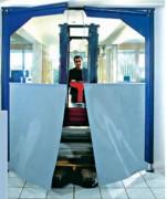 Porte à vantaux souple battante - Porte en PVC souple - Ossature en acier laqué ou en inox