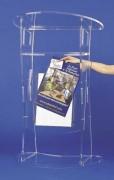 Porte affiche A3 pour pupitre plexi - Pour affiche format A3 vertical (29,7 x 42 cm)