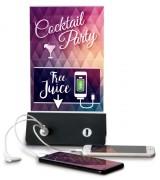 Porte-affiche avec chargeur pour téléphone mobile - Polymère thermoplastique ABS - Dimensions : 27,7 x 16 x 7 cm