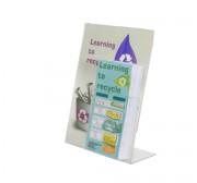 Porte affiche brochure transparant - Format : A6