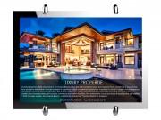 Porte affiche LED - Puissance Lumineuse LED : 6500 LUX