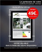 Porte affiche led double face - Ultra lumineux : 6000 lux