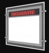 Porte affiche LED dynamique électronique - Affichage du visuel recto-verso - 100 000 heures d'utilisation