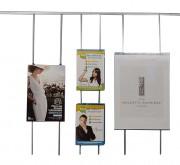 Porte affiche plexi pour cimaise - Dimensions : 3 tailles (cm) : A3 (29,7/42), A2 (40/60) et A1 (60/80)