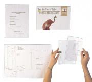 Porte affiche rigide en PVC - PVC rigide épaisseur 2mm - Formats : A5- A4 ou A3 - Horizontal ou vertical
