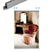 Porte affiche suspendu grand format - Dimensions : 500 - 800 - 1000 - 1200 - 1500 - 3000 mm