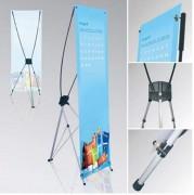 Porte-affiches aluminium sur pied - 3 formats: 60 x 160 cm - 80 x 160 cm -120 x 200 cm