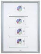 Porte affiches clic clac - 3 Tailles -Vitrage :Feuille PVC- Cadre: Aluminium anodisé