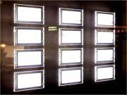 Porte-affiches LED 3 colonnes - Ultra-lumineux (6500 lumens) - Double face