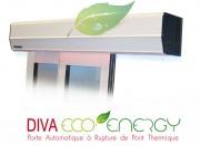 Porte automatique pour commerce - Coefficient de transmission thermique : 2W / m²