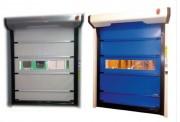 Porte automatique salle blanche - À enroulement souple - Conforme à la norme EN 13241-1 et au Marquage CE.