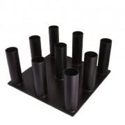 Porte barres vertical - Capacité : 9 barres de 51 mm