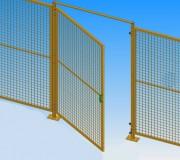Porte battante grillagée - Dimensions (L x H) mm : De 700 x 950 à 1500 x 1900