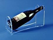 Porte bouteille de table plexi - Dimensions (L x l x Ht) : 27 x 10 x 15 cm