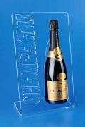 Porte bouteille plexiglas - Dimensions : Hauteur 37 cm - Largeur : 23 cm