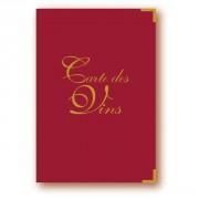 Porte carte vin pour restaurant - Vendue à l'unité - Noir ou Rouge - 17,6 x 25,5 cm