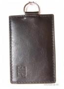 Porte-cartes de luxe cuir pour femme - Avec chainette et mousqueton - 2 Modèles : 1 ou 2 cartes
