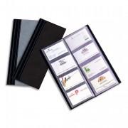Porte-cartes de visite Elégance 80 cartes noir - Elba
