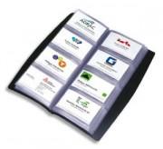 Porte-cartes de visite tout terrain noir 240 cartes - Elba