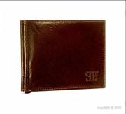 Porte-cartes en cuir marron pour homme - Dimension (L x h)  : 11 x 9 cm - Ensemble de 6 rangements
