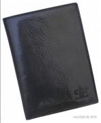 Porte-cartes en cuir noir - Dimension (L x h)  : 9,5 x 13 cm - Ensemble de rangements pour 6 cartes