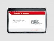 Porte cartes pour badges - Transparant - Face avant cristal et dos noir