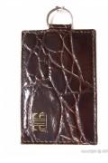 Porte-cartes pour femme en cuir - Avec chainette et mousqueton - 2 Modèles : 1 ou 2 cartes