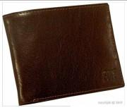 Porte-cartes pour homme en cuir marron