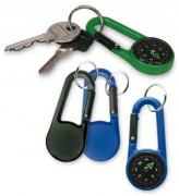 Porte clés boussole publicitaire - Marquage 1 couleur une face