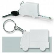 Porte clés mètre ruban personnalisé - Dimensions (mm) : 56 x 40 x 10