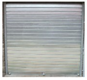 Porte coulissante en acier à tablier - Conforme norme CE EN 13241-1
