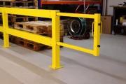 Porte coulissante industrielle en acier - Acier - Hauteur : 1000 mm