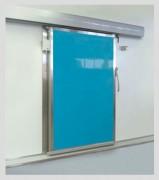 Porte coulissante isotherme - En tôle laquée ou en polyester