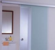 Porte coulissante verre souple - Pas de perçage ni d'encoche du verre