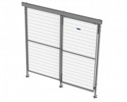 Porte coullisante avec rail - Avec rail en aluminium simple ou double