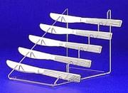 Porte couteau plexi - 5 places - 14 cm de hauteur.