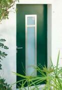 Porte d'entrée - Pureté des lignes, inox, verre