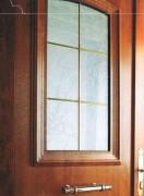 Porte d'entrée en pvc - Montée avec du verre feuilleté retardataire d'effraction