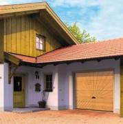 Porte de garage en bois massif - LTH 40