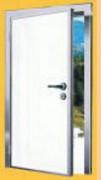 Porte de service semi-isolante - Huisserie Alu anodisé